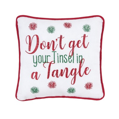 """C&F Home 10"""" x 10"""" Tinsel In A Tangle Pillow"""