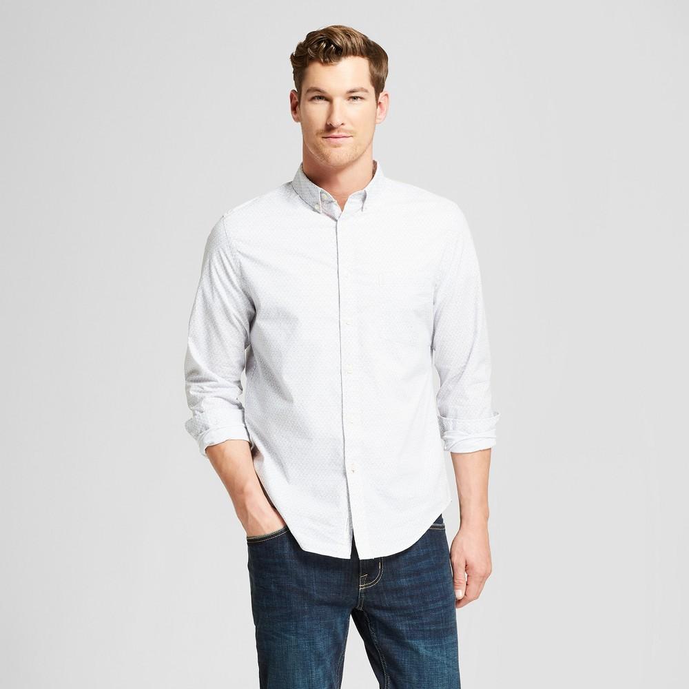 Men's Standard Fit Long Sleeve Northrop Button-Down Shirt - Goodfellow & Co Silver Mist XL
