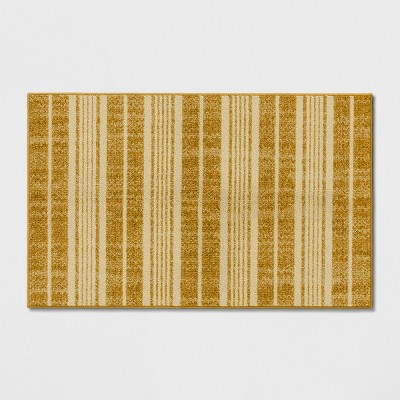 2'6 X4' Stripe Tufted Accent Rugs Gold - Threshold™