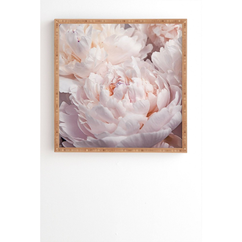 """Image of """"12"""""""" x 12"""""""" Magda Opoka Peony Floral Framed Wall Art Pink - Deny Designs, Size: 12""""""""x12"""""""""""""""
