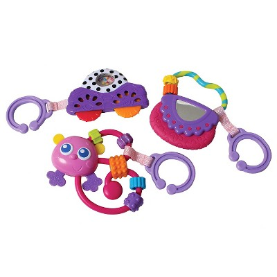 Playgro Go with Me Rattle Pack Girl