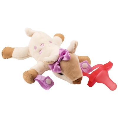 Dr. Brown's Deer Lovey with Pink One-Piece Pacifier - Tan