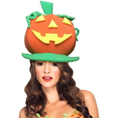 Funky Fresh Pumpkin Adult Foam Costume Hat