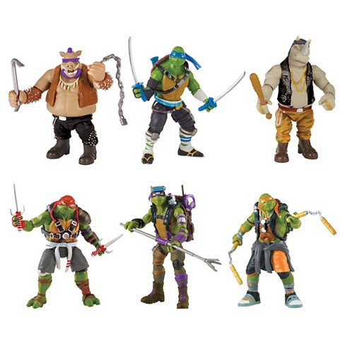 Teenage Mutant Ninja Turtles Movie 2 Action Figures 6pk - image 1 of 4