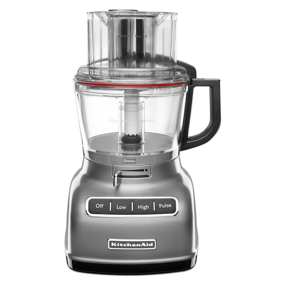 KitchenAid Refurbished 9 Cup Food Processor – Silver RKFP0930CU 53423472