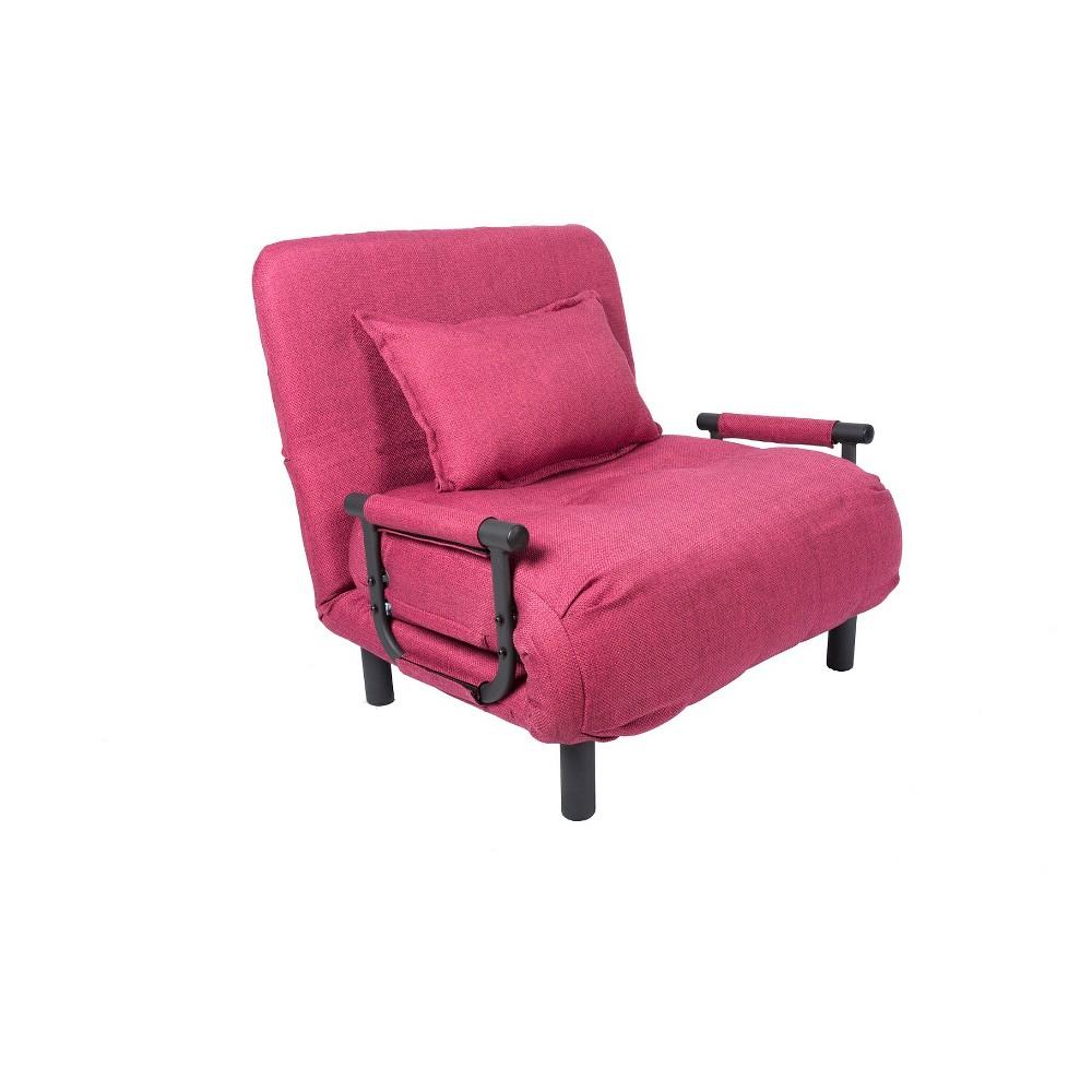 Pragmabed Single Sleeper Convertible Chair Maroon (Red)