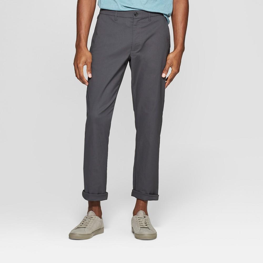 Men's Tech Chino Pants - Goodfellow & Co Charcoal (Grey) 32x32