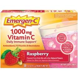 Emergen-C Vitamin C Dietary Supplement Drink Mix - Raspberry - 30ct