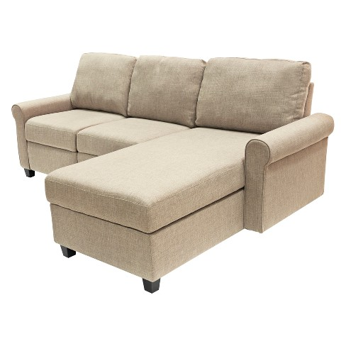 Remarkable Copenhagen Reclining Sectional With Right Storage Chaise Beige Serta Dailytribune Chair Design For Home Dailytribuneorg