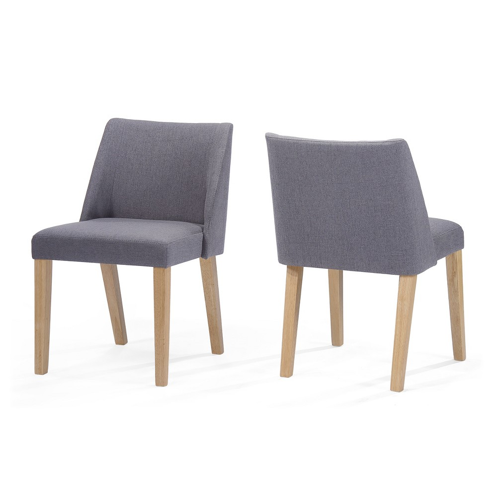 Regina Accent Chair (Set of 2) - Charcoal (Grey) - Christopher Knight Home
