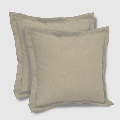 2pk Square Outdoor Pillows Sage - Threshold™