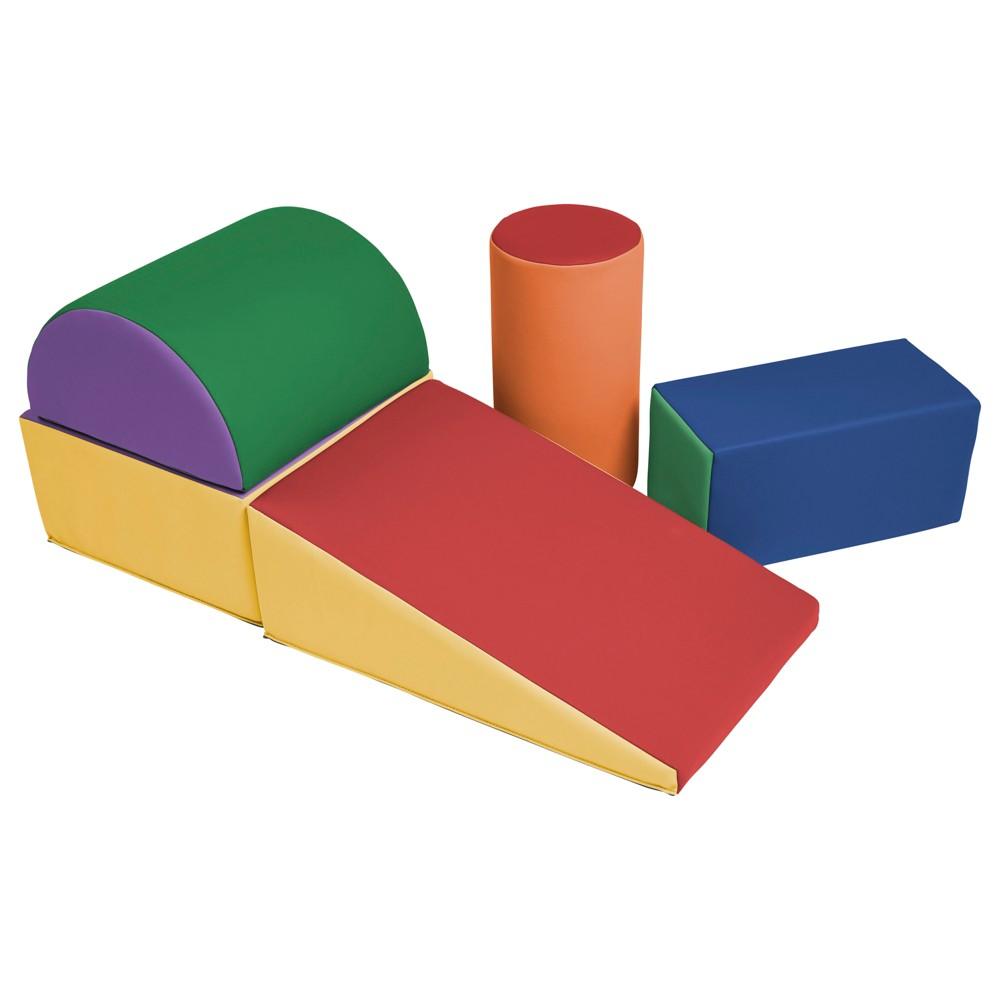 ECR4Kids Softzone Climb and Crawl Play Set, Multi-Colored
