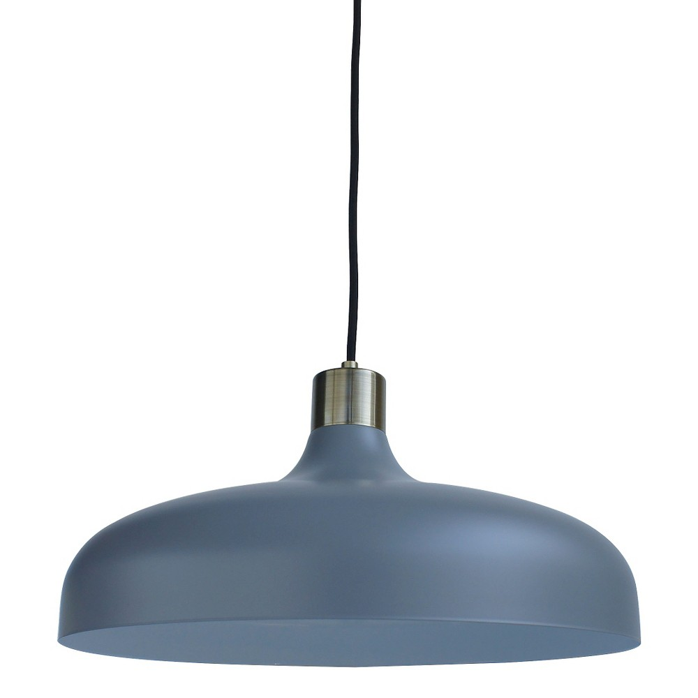 Crosby Collection Large Pendant Light Gray (Includes Cfl bulb) - Threshold