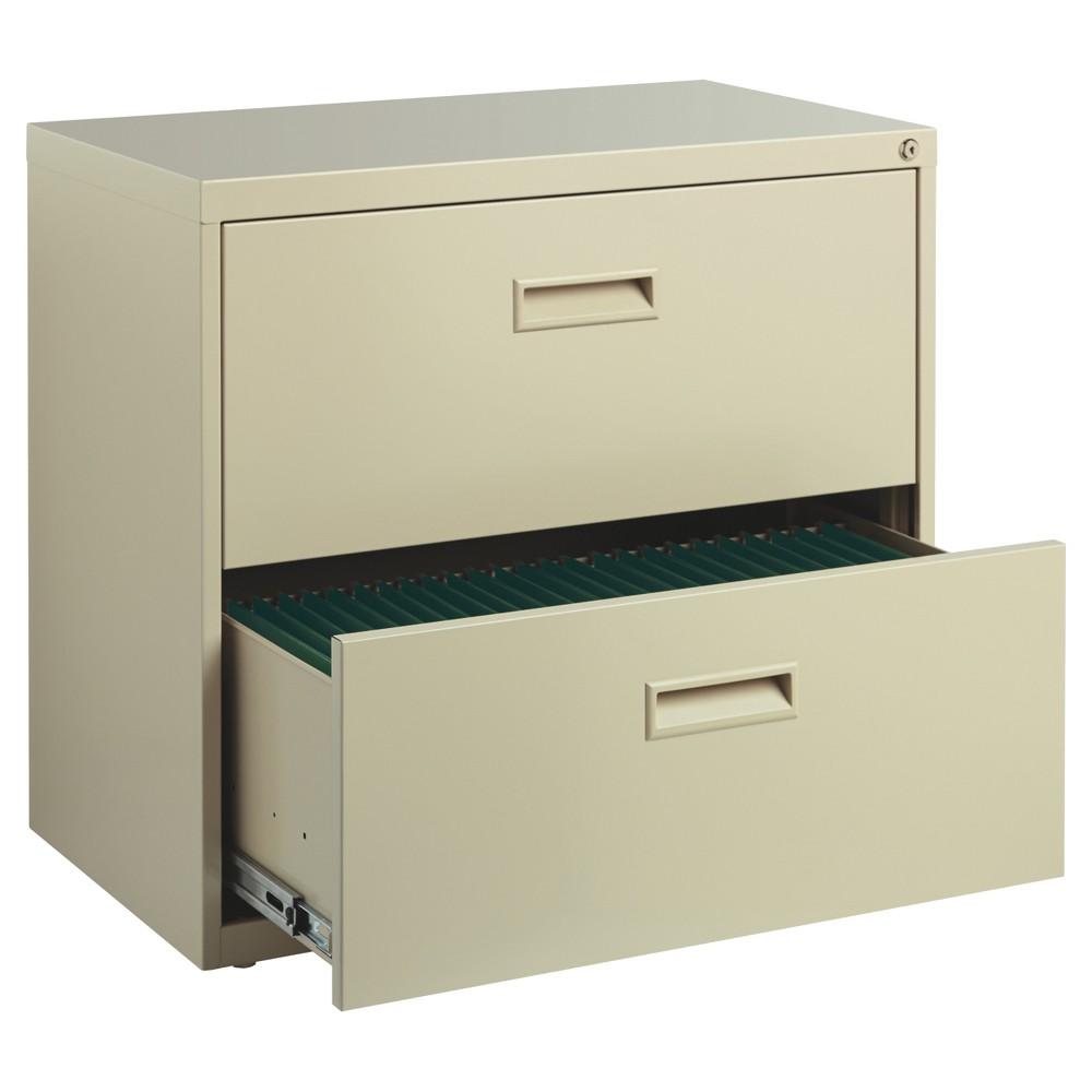 Hirsh 2 Drawer File Cabinet 30 Putty (Pink)