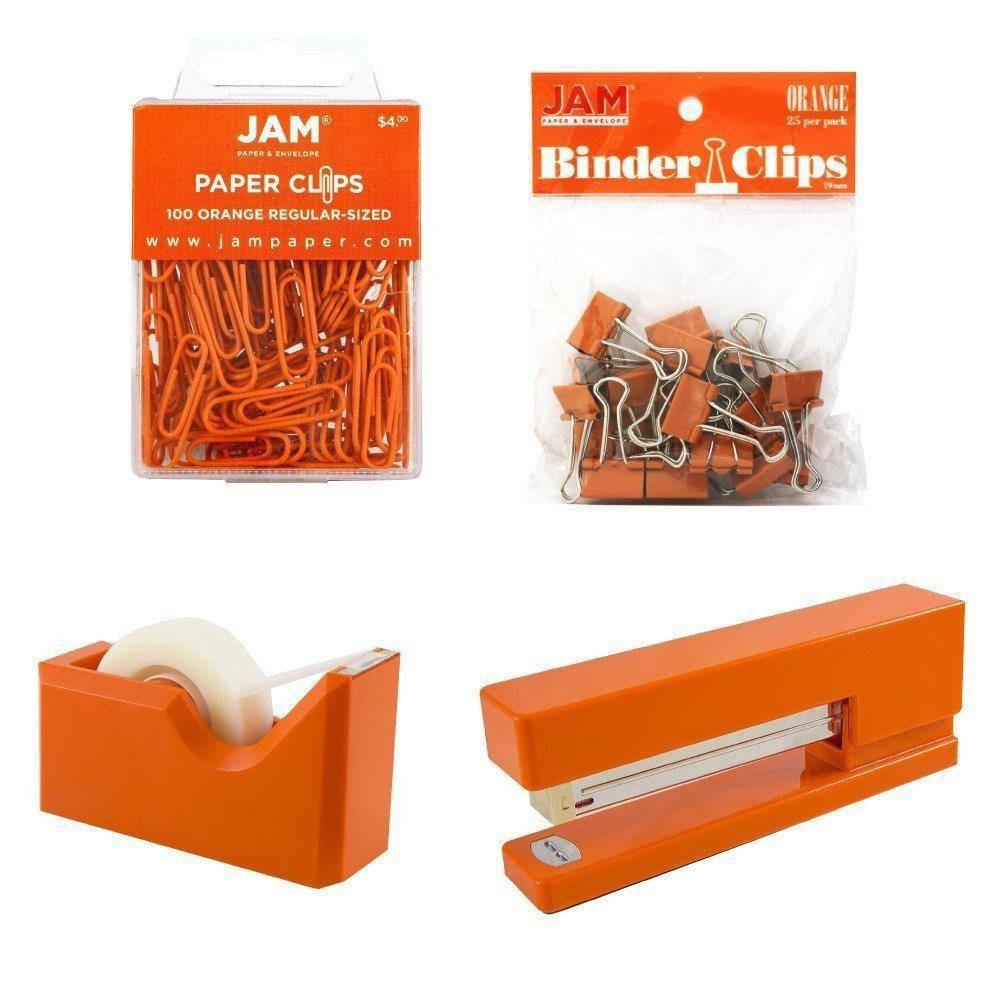 Jam Paper 4pk Office Starter Kit - Orange Jam Paper 4pk Office Starter Kit - Orange
