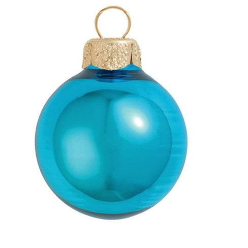 "Northlight 4ct Shiny Glass Ball Christmas Ornament Set 4.75"" - turquoise blue - image 1 of 1"