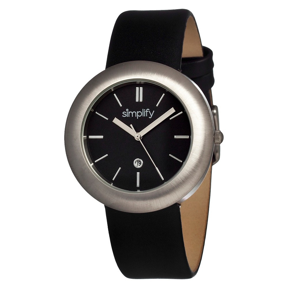 Women's Simplify the 900 Watch with Date Display - Black/Silver