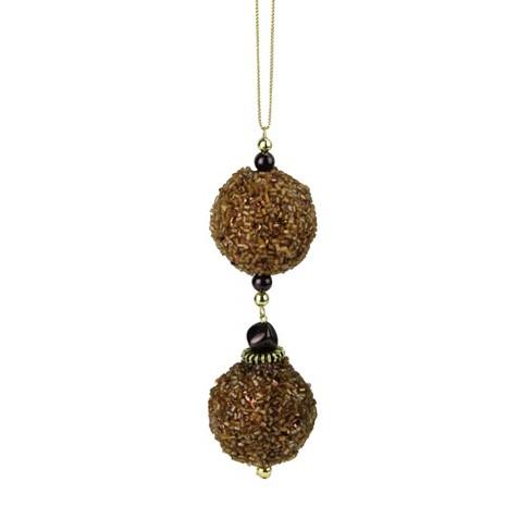 "Kurt S. Adler 5"" Chocolate Balls Rolled in Glitter Christmas Ornament - Gold - image 1 of 1"