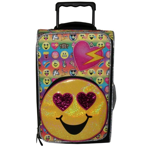 "Emojination 18""  Emojis On The Go Kids' Suitcase - Yellow - image 1 of 8"
