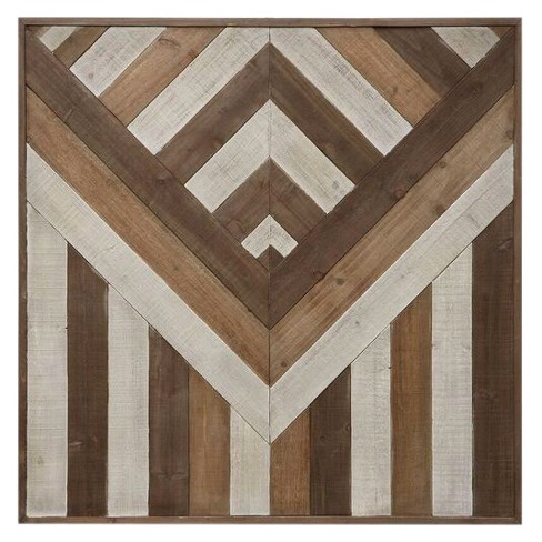 "Square Pieced Wood Wall Décor (39""x39"") - 3R Studios - image 1 of 1"