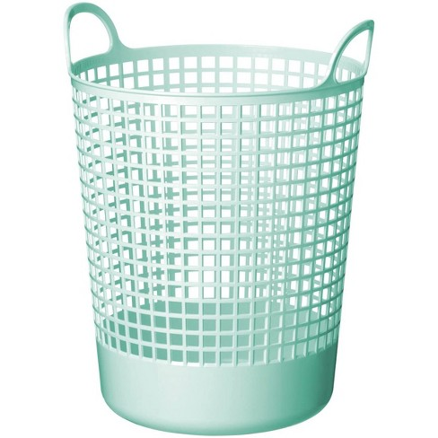 Like-It SCB-10 15 x 16 x 20 Inch Midcentury Modern Scandinavian Style Round Durable Plastic Storage Basket for Storage and Organization, Mint Blue - image 1 of 1