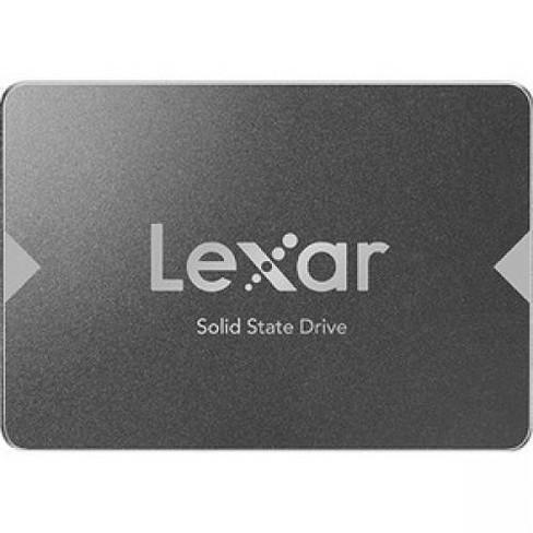 "Lexar NS100 240 GB Solid State Drive - 2.5"" Internal - SATA (SATA/600) - Gray - 520 MB/s Maximum Read Transfer Rate - 3 Year Warranty - image 1 of 3"