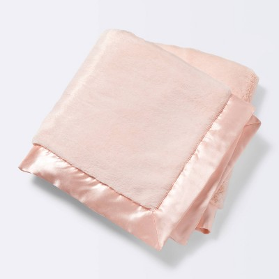 Solid Satin Edge Plush Blanket - Cloud Island™ Pink