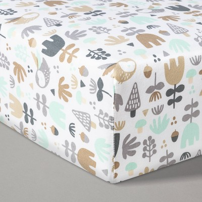 Fitted Crib Sheet Woodland - Cloud Island™ White/Beige