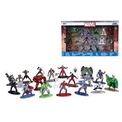 """Jada Toys Nano Metalfigs Marvel Die-Cast Figures 1.65"""" 20-Pack"""