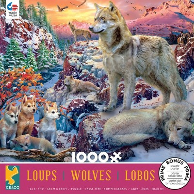 Ceaco Winter Wolves Jigsaw Puzzle - 1000pc