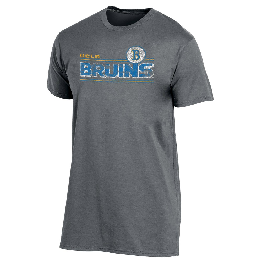 Ucla Bruins Men's Keep the Lights On Bi-Blend Gray Heathered T-Shirt L, Multicolored