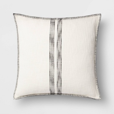 Oversize Square Woven Stripe Pillow - Threshold™
