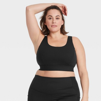 Women's Medium Support Soft Ribbed Bra - All in Motion™