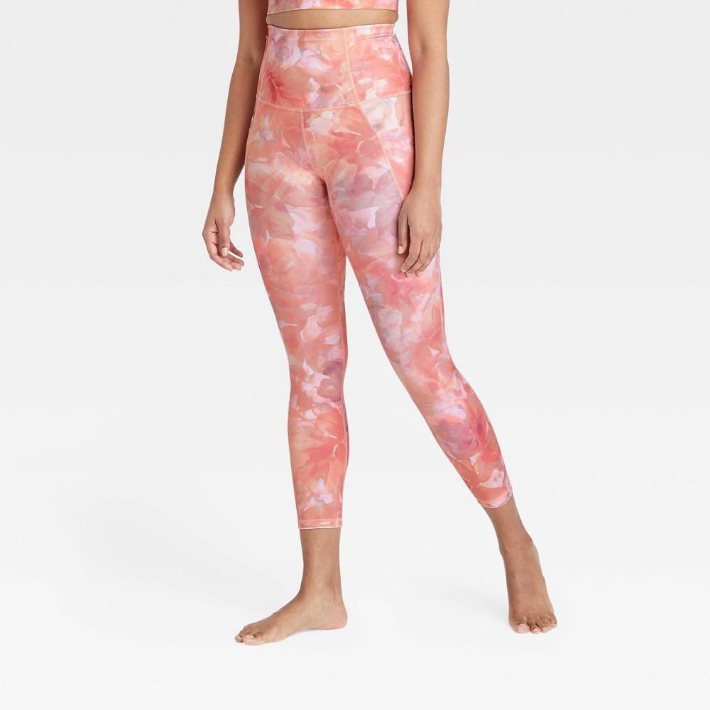 Women 39 S Contour Flex Ultra High Waisted 7 8 Leggings 25 34 All In Motion 8482 Blush Pink Xl