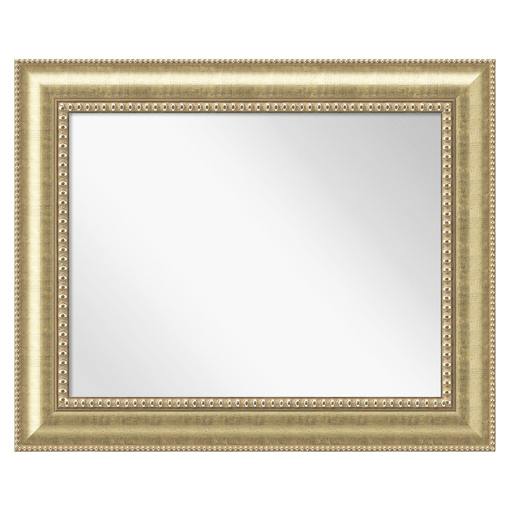 Image of Rectangle Astoria Decorative Wall Mirror Gold - Amanti Art, Golden Mist