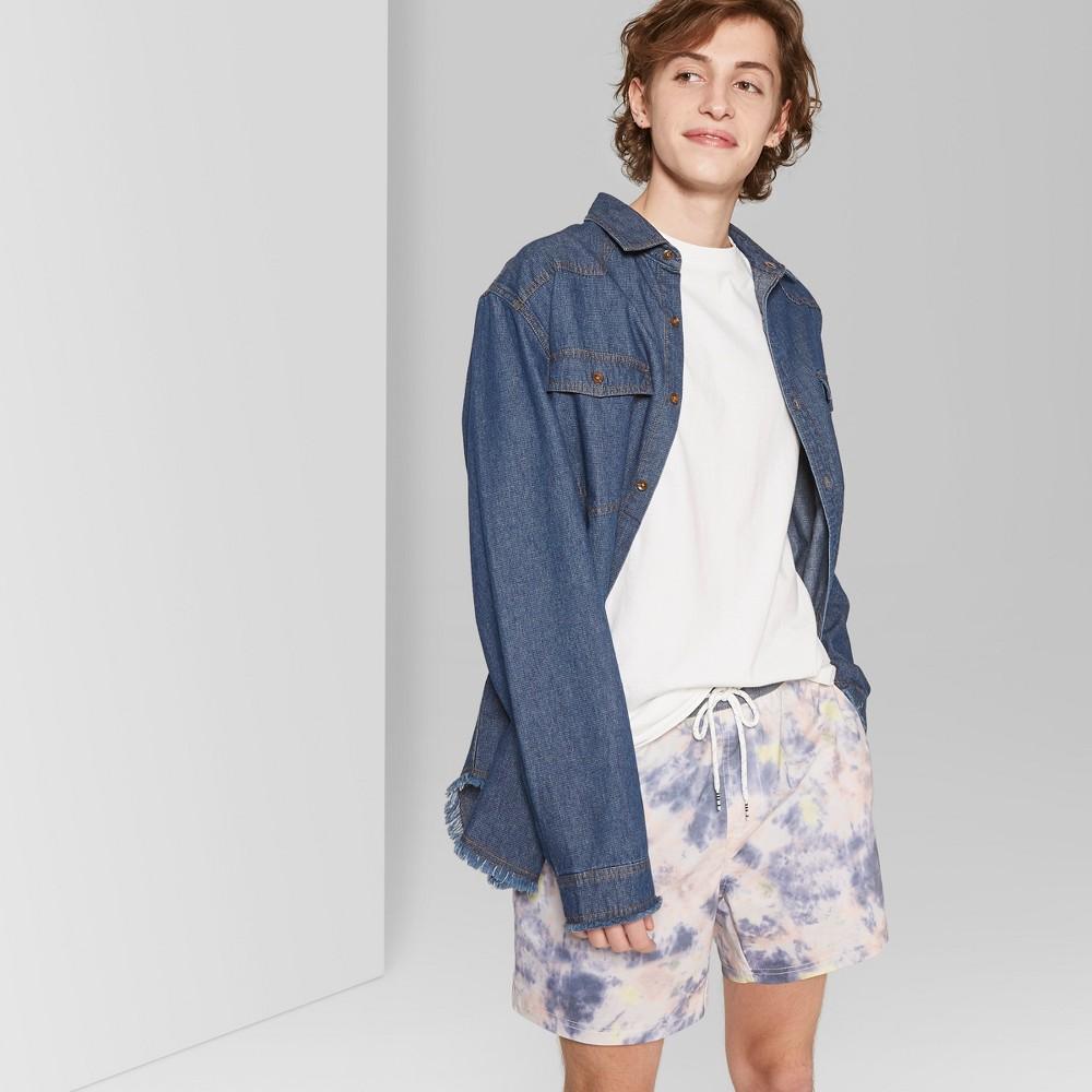 Men's 5.5 Striped Laundro Board Shorts - Original Use Rose S, Pink