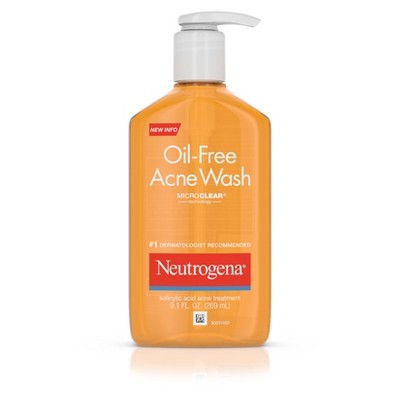 Neutrogena Oil-Free Salicylic Acid Acne Fighting Face Wash - 9.1 fl oz