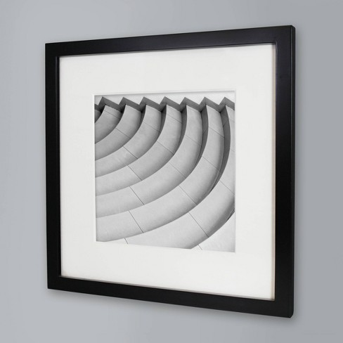 "8"" x 8"" Single Picture Matted Frame Black - Made By Design™ - image 1 of 4"
