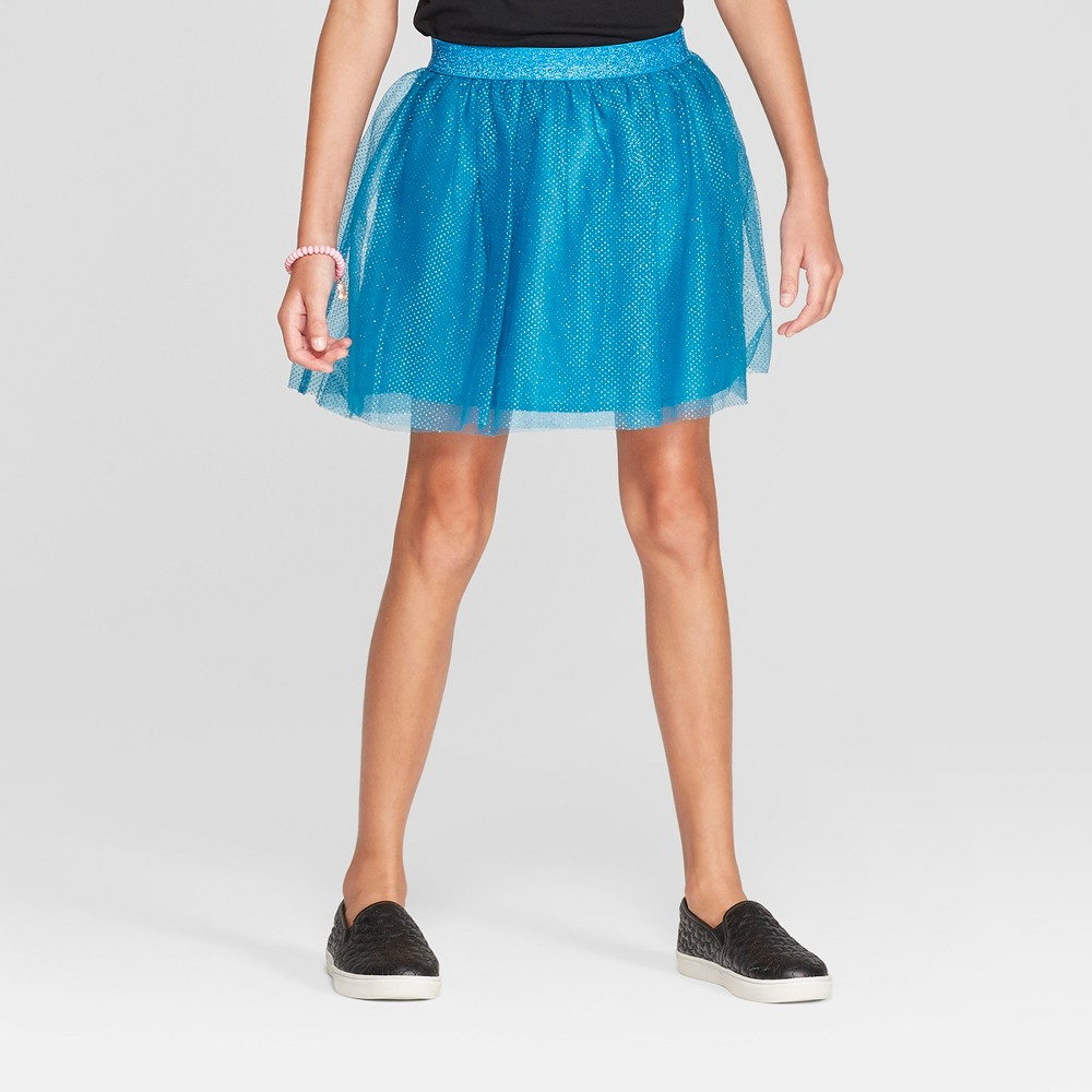 Girls' Tulle Tutu Skirt - Cat & Jack Blue XL