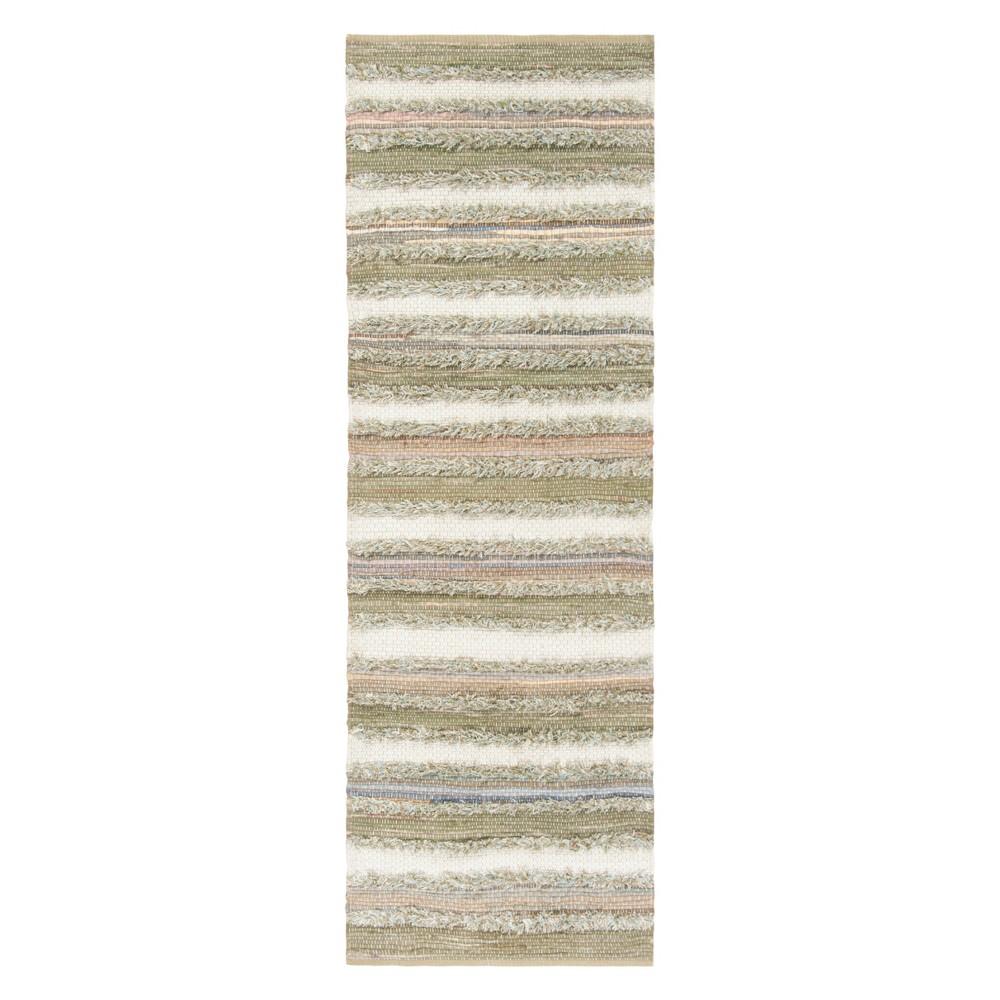 22X8 Stripe Woven Runner Beige - Safavieh Compare