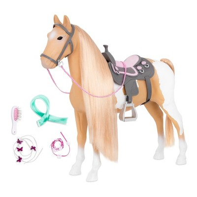 """Our Generation Hair Play Palomino Paint Horse for 18"""" Dolls"""