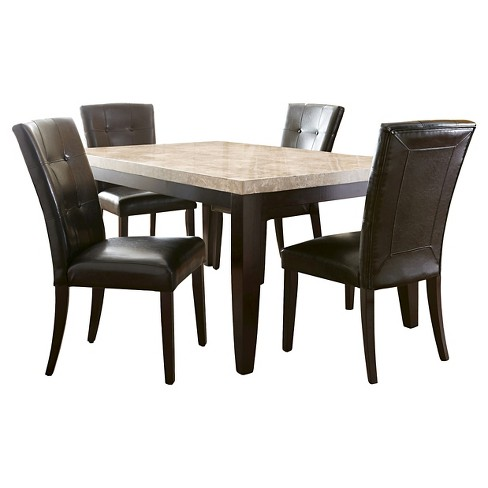 5 Piece Graham Dining Set Wood/Brown - Steve Silver Company - image 1 of 3