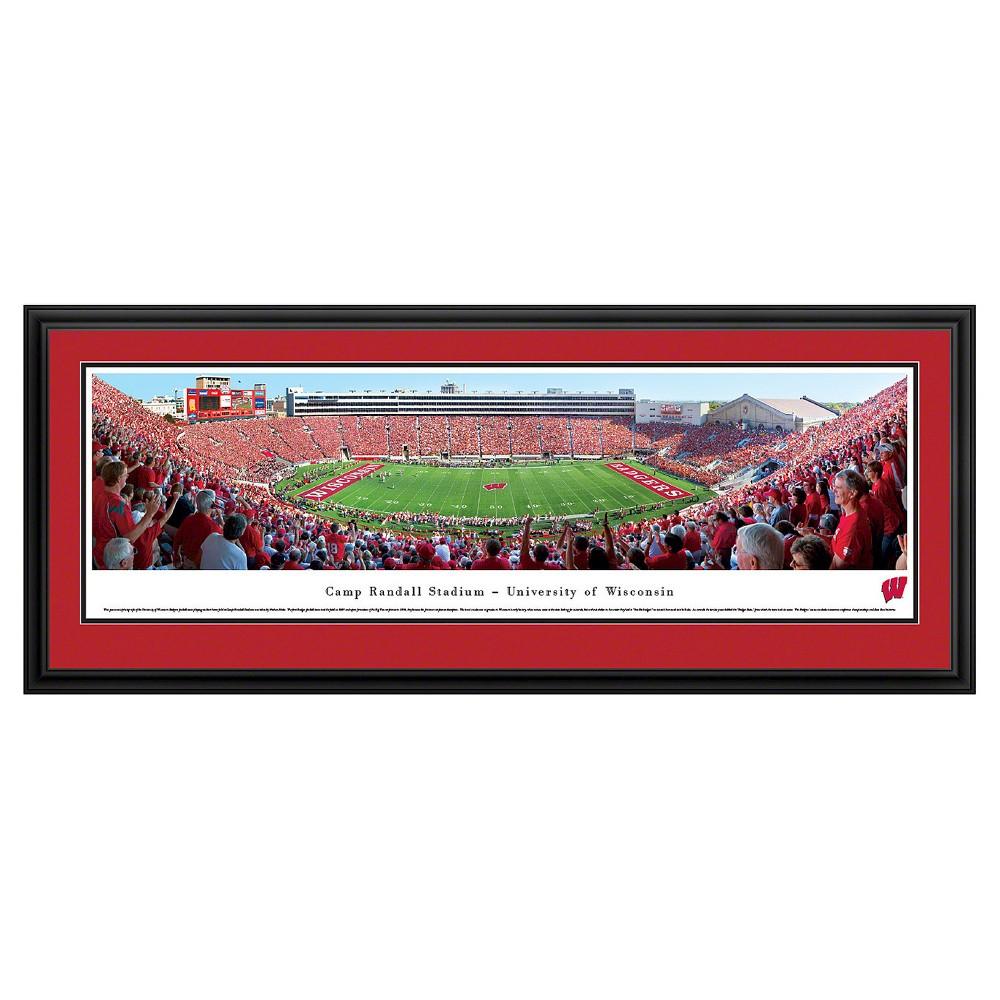 NCAAWisconsin Badgers BlakewayFootball Stadium View Framed Wall Art, Wisconsin Badgers