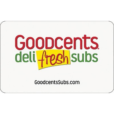 Goodcents Deli Fresh Subs Gift Card (Email Delivery)