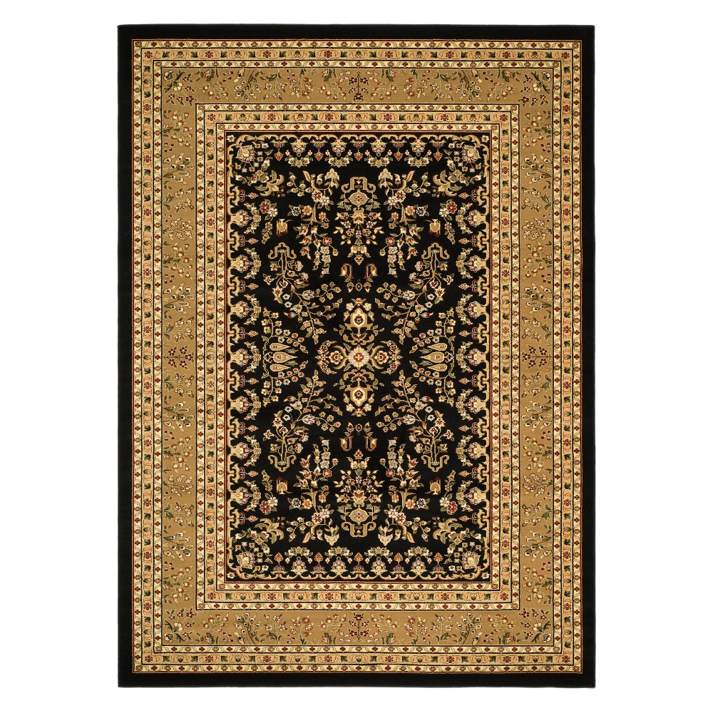 33X53 Floral Loomed Accent Rug Black/Tan - Safavieh Reviews