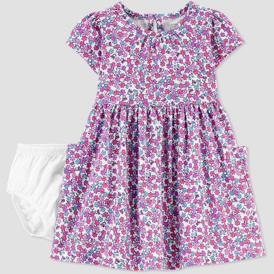 Baby Girls' Floral Dress - Just One You® made by carter's Purple 6M