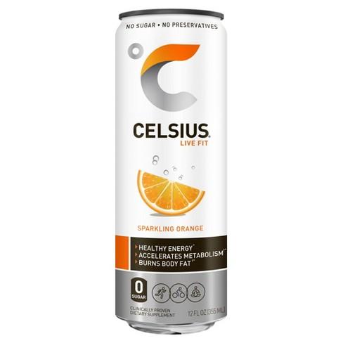 Celsius Sparkling Orange Energy Drink - 12 fl oz Can - image 1 of 4