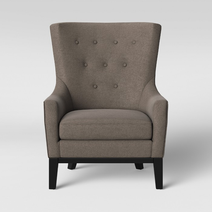Lewiston Wingback Arm Accent Chair Gray - Threshold™ - image 1 of 5