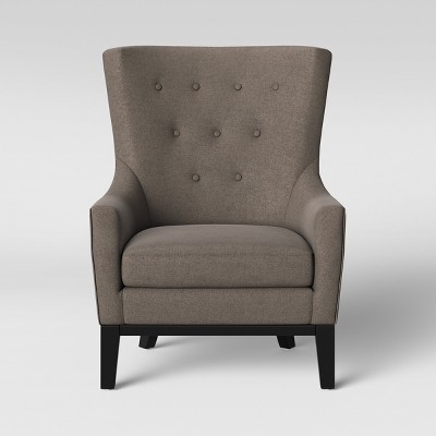 Lewiston Wingback Arm Accent Chair Gray   Threshold™