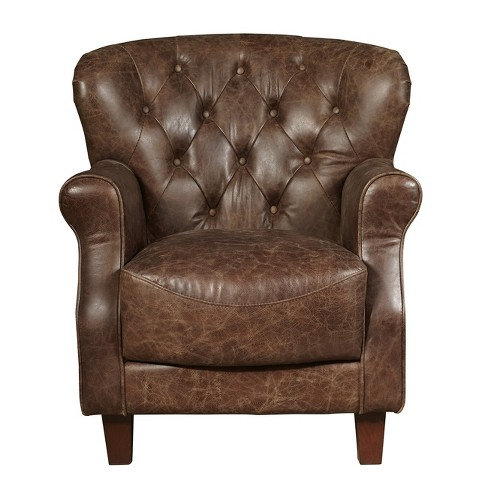Aviation Tufted Arm Chair - Brown - Pulaski - image 1 of 3